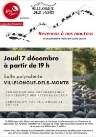 Revenons à nos moutons, documentaire jeudi 7 décembre 19h à Villelongue-dels-Monts