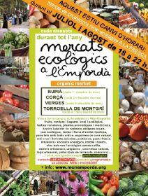 Marchés bio d'été en juillet et août, région de Figuères de 18h à 22 heures