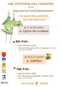 Se passer des pesticides tout naturellement, du 17 au 21 octobre 2016.
