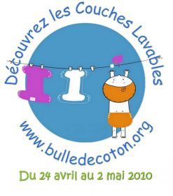 Semaine internationale de la couche lavable du 24/04 au 02/05/2010