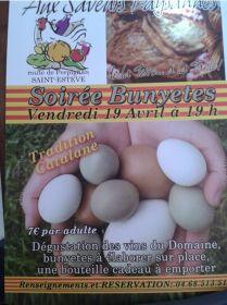 Soirée Bunyetes le 19 avril aux Saveurs Paysannes