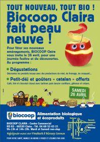 TOUT NOUVEAU, TOUT BIO ! BIOCOOP Claira vous invite le 26 avril, pour une journée festive et de découvertes.